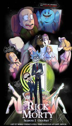 Ricky Y Morty, Rick And Morty Poster, Rick And Morty Season, Arte Horror, Fan Art, Cartoon Art, Comic Art, Nerdy, Anime