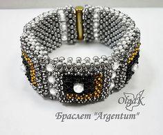 "Free diagram pattern for bracelet ""Argentum"""