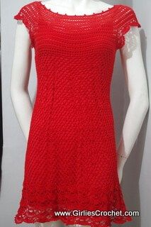 Gina Dress - Free Crochet Pattern - Ravishing Red Free Crochet Patterns