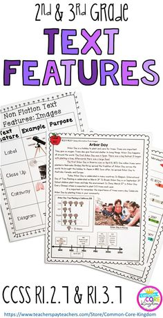 Nonfiction Text Features: Images - Grade & Grade Are you looking for a way to teach your second and third graders about nonfiction text features and images? This packet of reading comprehension passages with a variety of images such a Reading Lessons, Reading Skills, Teaching Reading, Guided Reading, Close Reading, Reading Centers, Library Lessons, Reading Groups, Teaching Spanish