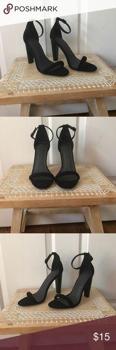 Asos Black heels Asos black felt heels with 3 1/2 inch heel. Asos Shoes Heels