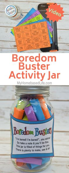 one wants kids to play on electronics all the time. The BEST Boredom Buster Jar for Kids can be created for your home and I'm going to show you how. Summer Activities, Toddler Activities, Sensory Activities, Diy For Kids, Crafts For Kids, Bored Jar, Boredom Busters For Kids, Summer Boredom, Kids Electronics