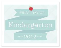 Printable First Day of School Sign   Hellobee