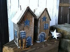 Handpainted Wooden Christmas House Christmas Decor Decorations Holiday Decor Christmashouses Handmade Vintage Decor Shabby Decor Wooden houses Christmas Christmas decoration house wood decoration Etsy Always wanted to learn to knit, nevertheless unc. Christmas Decorations For The Home, Christmas Home, Holiday Decor, Christmas Christmas, Rustic Shabby Chic, Felt Christmas Ornaments, Home And Deco, Old Wood, Little Houses