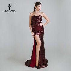 4dfeb72f783 Missord Sexy sleeveless halter bra split party dress sequin maxi dress  FT4785 Like if you remember