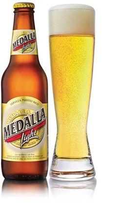 Cerveza (Beer)=Medalla (Medalla from Puerto Rico)
