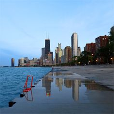 thought to share last one and call this a day ... soooo glad that Wednesday manage to make peace with me today ;) #Chicago #Skyline #LakeMichigan #Evening #Lights #Reflection #Colors #Shades #LakefrontTrail #Summer2015 #HappyWednesday