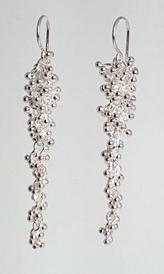 Signature Collection.  .999 Silver Handmade Granulation Tapering Cluster.