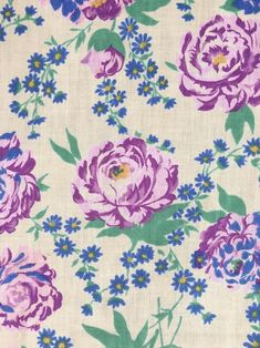 Peach Flowers Vintage Cotton Canvas Curtain Craft Quilting Upholstery Fabric