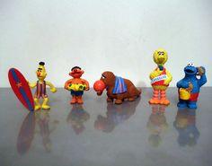 Sesame Street Figures Set of 5 Beach Themed Figurines by 77Street