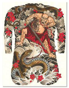 Tribal Tattoos, Asian Tattoos, Tattoos Skull, Body Art Tattoos, Sleeve Tattoos, Japanese Snake Tattoo, Japanese Dragon Tattoos, Japanese Tattoo Designs, Backpiece Tattoo