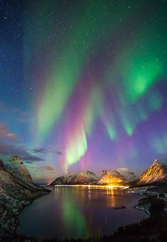 Aurora Borealis - Northern Norway from Armando Dardon.--To see the aurora borealis from ANYWHERE! But this is especially beautiful (mkc)