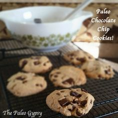 Perfect Paleo Chocolate Chip Cookies! These are amazingly chewy and soft! Gluten-free, soy-free, dairy-free and wheat-free!