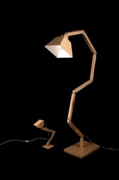 Wooden Floor Lamp DL022 | BlackGizmo MISI Handmade Shop