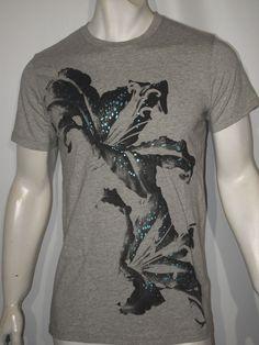 Diesel tiger T shirt heather gray size xl NWT   #DIESEL #GraphicTee
