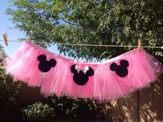 Pink Minnie Mouse Highchair Tutu par LilasLaundry sur Etsy, $21,99