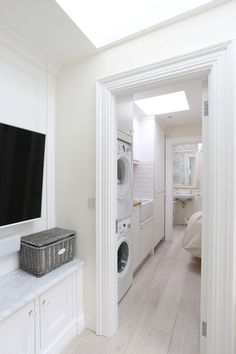 Bespoke Kitchens design experience for years. At Noel Dempsey Design we are experts in Traditional, Contemporary and Fitted Kitchens. Laundry Room Bathroom, Modern Laundry Rooms, Laundry Room Design, Bathrooms, Small Utility Room, Utility Room Designs, Alcove Storage, Storage Spaces, House Extension Design