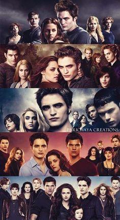 Twilight Saga - Twilight - New Moon - Eclipse - Breaking Dawn Family