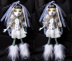 Cyber goth white set - for MH and EAH doll