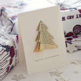 bookish Tree Christmas Card