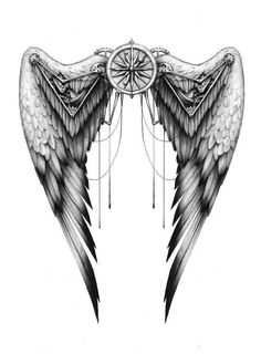 Wings commission by - Tattoos love . - Wings commission by – Tattoos love flower Best Picture For tatto - Back Tattoos, Future Tattoos, Love Tattoos, Body Art Tattoos, Tattoos For Guys, Him And Her Tattoos, Tattoos Skull, Feather Tattoos, Tatoos