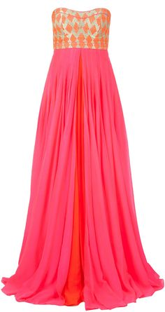 Anita Dongre - absolutely in love!! Pink and orange - my ultimate fav combi