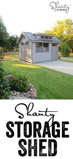 Amazing storage shed!  LOVE these... Affordable and totally customizable!  Woohoo!!