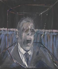 Francis Bacon Study for a Portrait, Oil paint and sand on canvas. 661 x 561 x 18 mm. © Estate of Francis Bacon. All Rights Reserved, DACS 2016 Lucian Freud Paintings, Michel Leiris, Mouton Rothschild, Tableaux Vivants, Max Ernst, Damien Hirst, Art Brut, A Level Art, Sgraffito