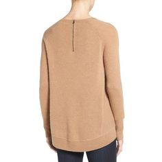 Swooning over this essential cashmere sweater in a classic camel ...