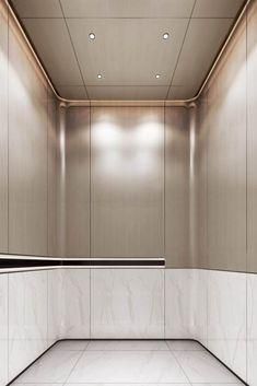 Lobby Interior, Interior Stairs, Apartment Interior, Interior Architecture, Interior Ideas, Ceiling Design, Wall Design, Elevator Lobby Design, Stair Lift