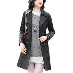 Allegra K Black Lapel Collar Belt Loop Cuffs Double Breasted Trench Coat for Woman S Allegra K, http://www.amazon.com/dp/B008SCIH9S/ref=cm_sw_r_pi_dp_etxNqb1J5X3BV