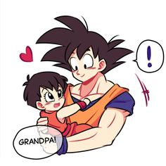 Grandpa Goku and his favourite little girl♡^^