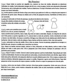 Moldes e ideias que amo: Santos
