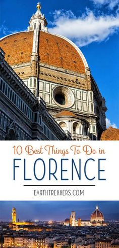 10 best things to do in Florence, Italy. Climb the Dome of the Duomo, climb the Campanile, watch the sunset from Piazzale Michelangelo, see Michelangelo's David, and more. #florence #italy