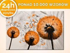 Obrazy 90x60cm dmuchawce pejzaż kwiaty ludzie