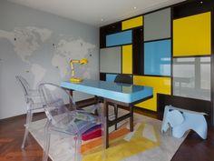 Dariel Studio designed a vibrant penthouse suite to reflect the client's eccentric personality.