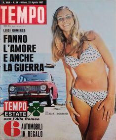 ALFA ROMEO GIULIA -TEMPO rivista nr. 34 del 22 AGOSTO 1967 Alfa Romeo Gtv, Alfa Romeo Giulia, Bikinis, Swimwear, Classic Cars, Automobile, Bathing Suits, Car, Swimsuits