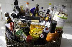 beer pretzels jerky hot sauces mini liquor bottles and some unique chocolate. Theme Baskets, Raffle Baskets, Fathers Day Gift Basket, Fathers Day Gifts, Mini Liquor Bottles, Liquor Bar, Beer Basket, Gift Baskets For Men, Auction Baskets