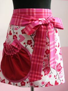 Pink Owl Apron   Owls and Hearts Towel Apron  by theglamfinale, $20.00