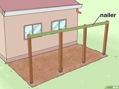 How to Add a Lean To Onto a Shed. When your shed or other storage building no longer provides enough room, you can add additional storage if you add a lean-to onto a shed. If the existing shed is structurally sound and has an exterior wall. Lean To Shed Plans, 10x12 Shed Plans, Diy Shed Plans, Garage Plans, Garage Ideas, Curved Pergola, Pergola Kits, Pergola Ideas, Woodworking Projects