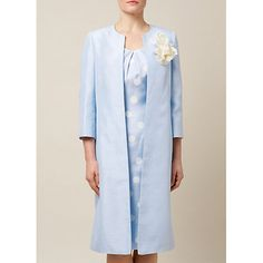 Buy Jacques Vert Occasion Coat, Light Blue Online at johnlewis.com