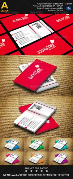 Bookstore double sided standard business cards pack of 100 bookstore business card an0173 reheart Gallery