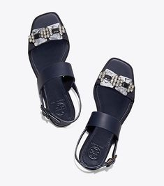 f373e35dce3163 Visit Tory Burch to shop for Delaney Embellished Flat Sandal and more  Womens Sandals. Find
