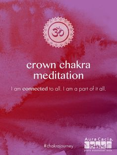 To balance your crown chakra, try this meditation to help support your growth, fulfillment and ability to rise above it all. Listen now. #chakrajourney