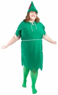 Plus Size Peter Pan Costume... Kink of unfortunate but it's an idea