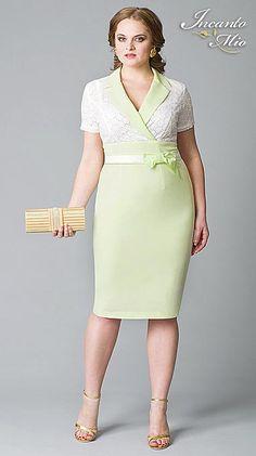 Платья больших размеров белорусского бренда Inkanto Mio. Весна-лето 2013 Elegant Dresses, Beautiful Dresses, Brides Mom Dress, Plus Size Dresses, Dresses For Work, Plus Sise, Love Plus, Vintage Inspired Dresses, Office Fashion
