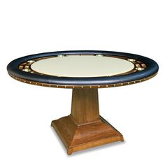 Lorts Manufacturing Bar and Game Room Square To Round Poker Table