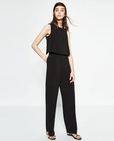 Image 1 of CREPE JUMPSUIT from Zara