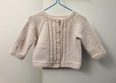 3 months size baby girl cardigan, modern baby knitwear with pretty flower buttons, girl's oatmeal neutral cardigan, hand knitted shower gift Nylons, Baby Girl Cardigans, Girly, Beige Cardigan, Button Flowers, Couture, Pull, How To Look Pretty, Striped Cardigan