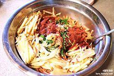 무생채만드는법_맛없는사과처리 Korean Food, Cooking, Ethnic Recipes, Kitchen, Korean Cuisine, Brewing, Cuisine, Cook
